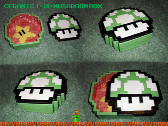 Ceramic 1-Up Mushroom Box by Treflex