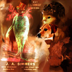 Monsieur Simmers and his Chimerical Lapbeast by Treflex
