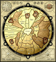 Dune - board game map by ilya-b
