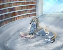 Lirian studying by VarjoKiro