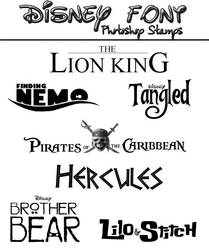 Disney Font Photoshop Stamps by SpecialKaye94