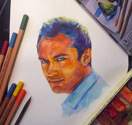 Portrait of Jude Law by lazy-brush