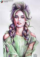 Portrait of Frida Gustavsson by lazy-brush