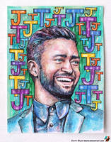 Portrait of Justin Timberlake #2 by lazy-brush