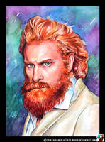 Portrait of Kristofer Hivju by lazy-brush