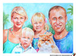 Family portrait with cat by lazy-brush