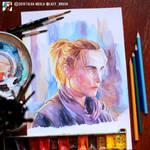 Portrait of Emmanuelle Seigner (WIP) by lazy-brush