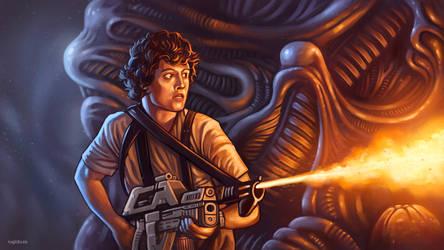Aliens - Into the Queen nest by RUGIDOart