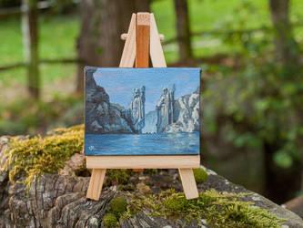 The Argonath mini painting by RUGIDOart