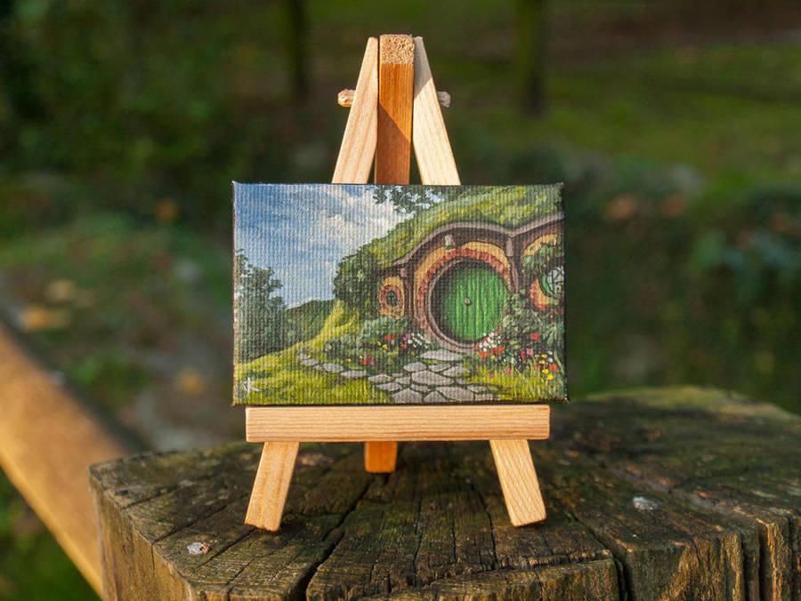 Bag End -Hobbiton mini painting by RUGIDOart