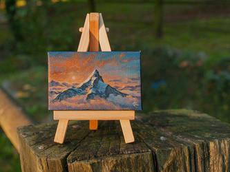 Erebor, the Lonely Mountain mini painting by RUGIDOart