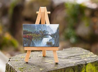 Rivendell mini painting by RUGIDOart