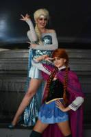 Sailor Anna and Sailor Elsa by ReaganKathryn