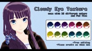 -MMD- Cloudy eye texture DL by AuroraYok