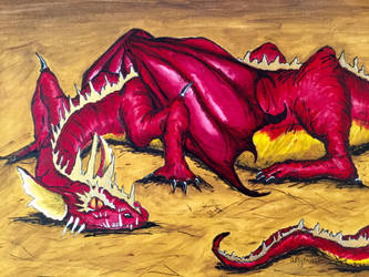 Smaug Painting #ShowYourHeart by ArtyMissK
