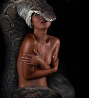 Snake Eating Wet Asian by eylk341