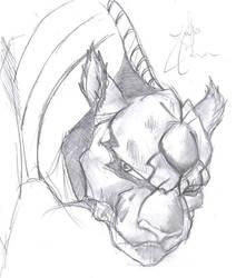 Grimmjow sketch 2 by ROX-pn3d