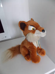 Fox Animals Of Farthing Wood Plush (2nd side view) by TheRaggleTaggleGypsy