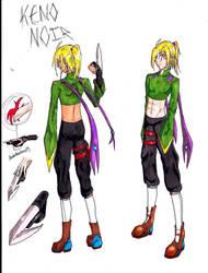 Keno Noir character ref by AidenRocker18