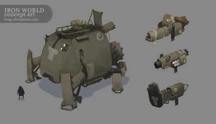 Iron World - Mech 3 by LeoGr