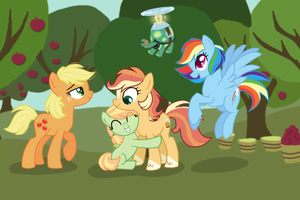 Winterverse: AppleDash Family by ThePegasisterPony