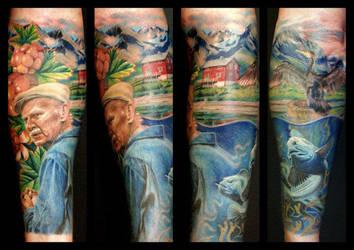 Grandfather tattoo by Sylkvass