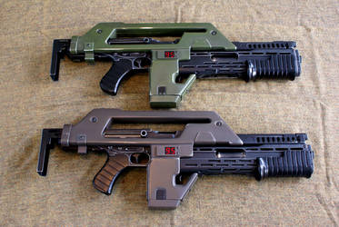Two Pulse rifles by Matsucorp