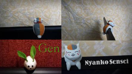 Gen and Nyanko-Sensei (Clay) by lillycutecat8899