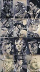 Indiana Jones MP sketchcards by gattadonna