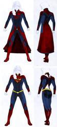 Smallville Season 11 Supergirl Costume Design by gattadonna