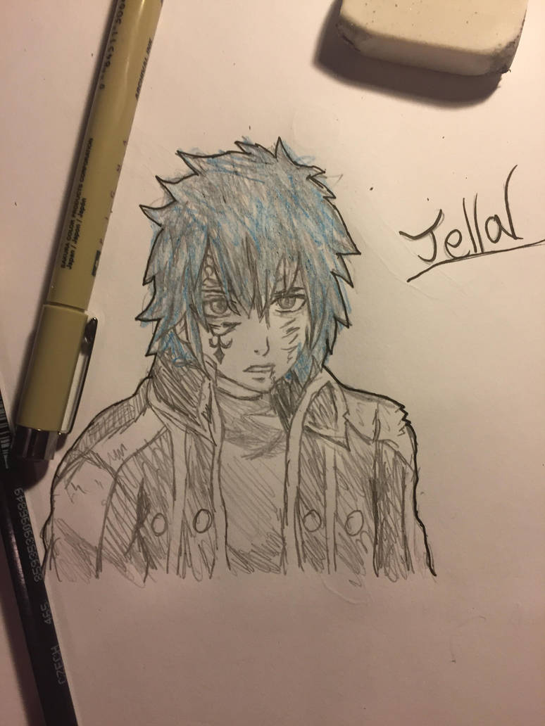 Fairy tail jellal pencil drawing by divvin