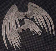 Wings - Gray Angel by TheMushroomPeddler