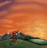 Diddy Kong - Sole survivor by Ribbedebie
