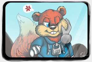 Conker on Kinect by Ribbedebie