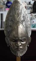 Frontshot of ceremonial helmet by danielokeefe