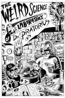 Mad Scientist Splash Page by Huwman