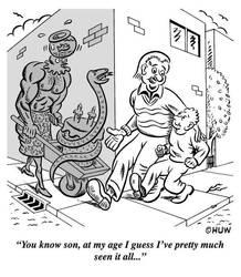 Gag Cartoon 14 by Huwman