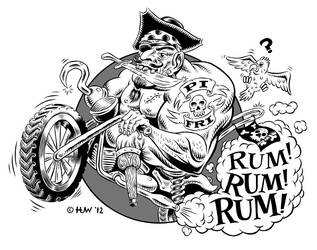 Pirate Fridays Band Art by Huwman