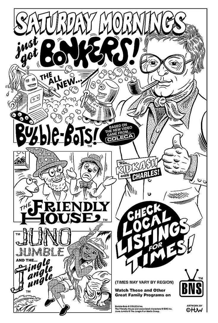 Retro Saturday Morning Cartoons Parody Ad by Huwman