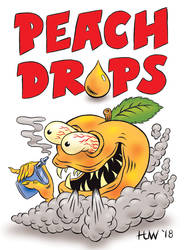 PEACH DROPS Vape Juice Mascot by Huwman
