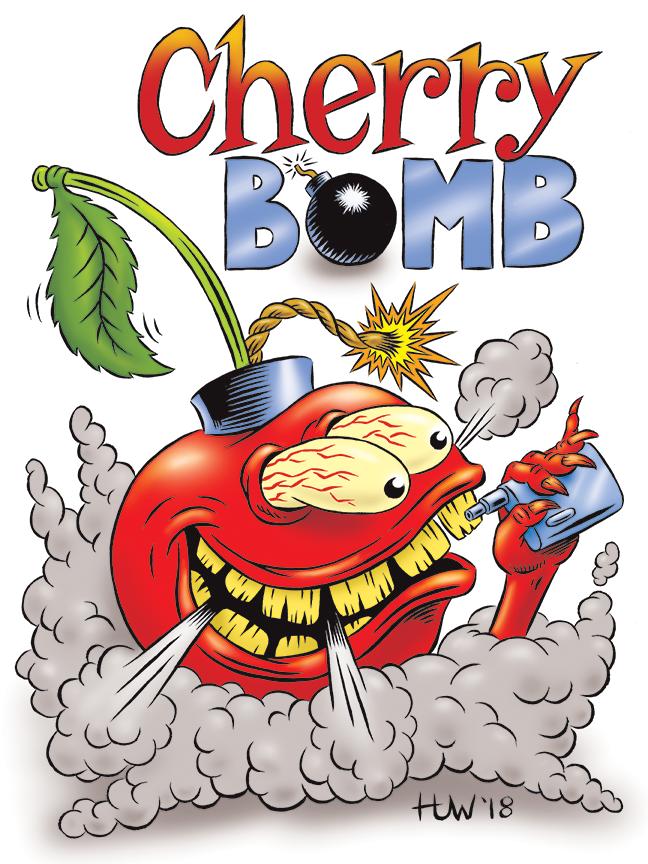 CHERRY BOMB Vape Juice Mascot by Huwman