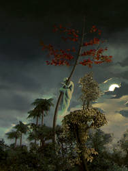Tree ghost by Sanskarans