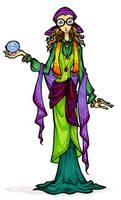 Professor Trelawney by twylightshadow