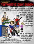 Flyer for Day Before Father's Day Bash by StineTheKitty