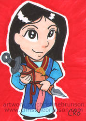 Sketchcard - Mulan by StineTheKitty