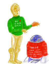 Ugly sweater droids by SnappySnape