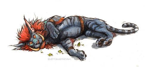 Troll Cat by kenket
