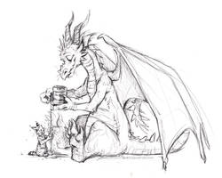 Another pint? by kenket