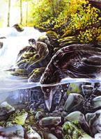 Trickster - Raven Speaks Frog by kenket
