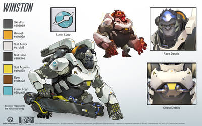 Winston - Overwatch - Close look at model by PlanK-69